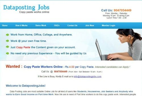 DatapostingJobs-Online Jobs in Allahabad-585x397